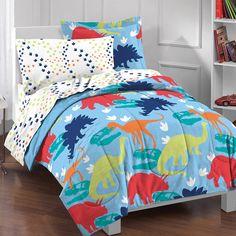 Dream Factory Dinosaur Bed in a Bag Bedding Set