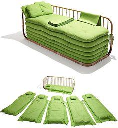 Eco Sofá-cama de bambú y algodón, by Ole Jensen