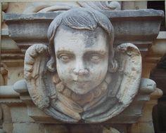 300 year old angel at Mission San Jose San Antonio