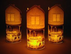 A picture of your own home w/ a battery tea light