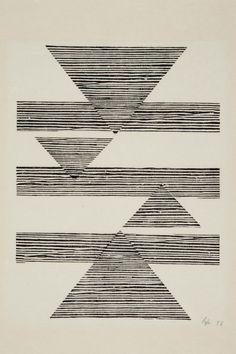 lines, triangles, aztec
