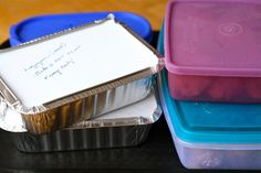 Cooking for Others: A Guide to Giving Sympathy Meals .... great tips if you ever make & take meals to others!