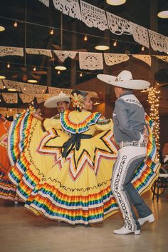 Traditional Mexican folk dancers liven up this wedding reception.