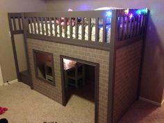 amazing playhouse loft bed, free plans ana-white.com