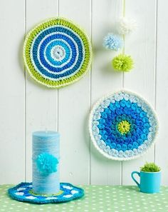 There's less than two weeks to wait now until you can get your hands on issue 66 and the pattern and yarn for these gorgeous mandalas by Emma Varnam.