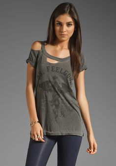 CHASER Dr. Feel Good Motley Crue Deconstructed Tee in Faded Black at Revolve Clothing - Free Shipping!