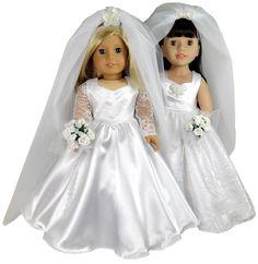 American Girl Wedding Dress Doll Clothes Pattern