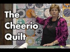 "Another great tutorial! http://missouriquiltco.com -- Jenny Doan shows us how to make a lovely Cheerio Quilt using layer cakes (10"" squares)."