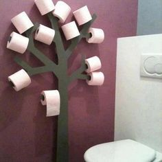 Great idea for toilet paper rolls | http://www.decoridea.info/great-idea-for-toilet-paper-rolls/