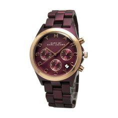 MARC BY MARC JACOBS 'Henry' Aluminum Bracelet Watch Maroon