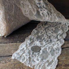 Vintage Wide Lace Trim White      $7