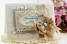 Memorial Card Ideas by Becca Feeken using Quietfire Design - Garden Bench Collection and Spellbinders