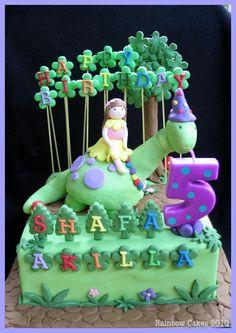 Girl's Dinosaur Birthday Cake