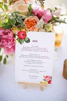 botanical inspired menu, photo by Adrienne Gunde http://ruffledblog.com/christmas-house-inn-wedding #weddingideas #papergoods