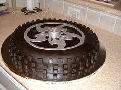 wheel & tire cake