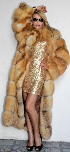 Ohhh! Outlet Saga Fox Fur Coat Jacket Fuchs Pelz Wie Zobel Sable Mink Nerz Mexe Visone | eBay