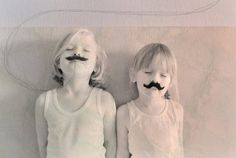 bookmarks, movember, little girls, family photos, children, kids, moustaches, 5 years, inspiring pictures