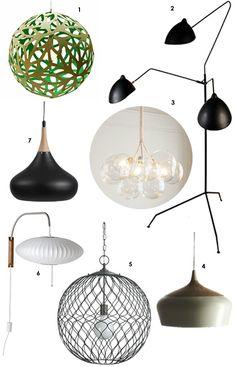 7 Lights for an Organic Modern Look Decor Style Source List