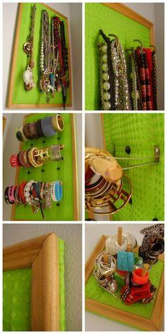 DIY Jewelry Displays: Bracelet Stand, Bracelet Holder and Necklace Holder.