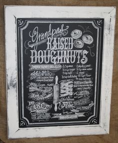 Your Favorite Family Recipe in a Chalkboard Art Sign Framed 18 x 24 on Etsy, $114.86 AUD
