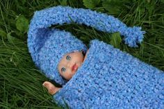 Baby crochet snuggie and hat....