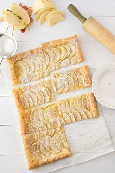 Easy Puff Pastry Honey Apple Tart
