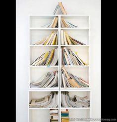 must do on office bookshelves...books make a christmas tree! <3