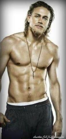 #HOT #SEXY #MEN #GODS Charlie Hunnam HE NEED TO SHAVE THAT OFF BUT HE STILL FINE LOL