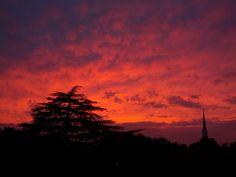 Tonight, the sky was ablaze as the sun fell over Gastonia