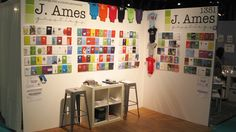 booth inspir, stationeri display, craft fair, corner booth, stationery design, biz idea