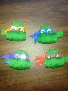 Ninja Turtle hair clips
