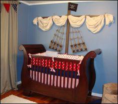 nautical baby boy nursery room ideas   ... pirate themed furniture - nautical theme decorating ideas - Peter Pan