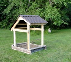 Rustic AllWeather Covered Sandbox by RusticToys on Etsy, $300.00