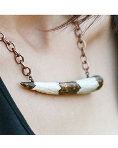 Western Pendant - made with naturally shed deer antler