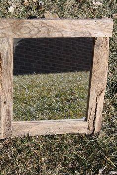 Reclaimed barn wood framed mirror