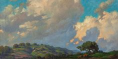 "Paul Grimm (1891-1974 Palm Springs, CA)   ""California Clouds"", oil on canvas, 28""H x 36""W, est:7000/9000"