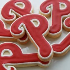 Phillies Logo Cookie Favors from Whipped Bake Shop: $4.75 each