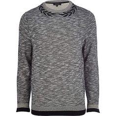 Grey marl wreath neck sweatshirt