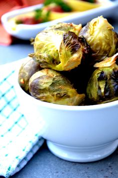 Agave-Roasted Brussels Sprouts with Cashew Glaze