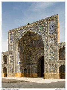 West iwan. Imam Mosque, Isfahan, Iran. Photo: Quintin Lake