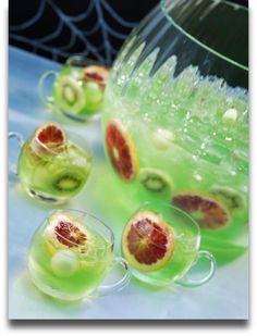 halloween idea, midori halloween, punch recipes, drink, green punch
