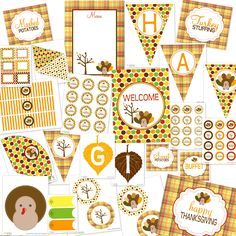 crazy awesome fall Thanksgiving printables