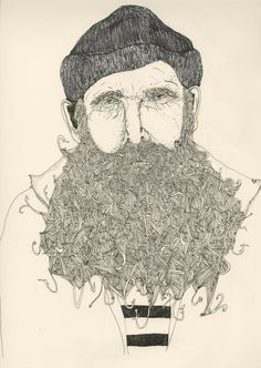 fisherman Illustrations, Hooks, Captain Hook, Art, Inspir, Sea, Beard, Fisherman, Kristina Micotti