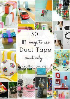 tape tutori, diy duct tape stuff, duck tape, boxes, craft tutorials, duct tape crafts, 30 diy, duct tape creations, kid