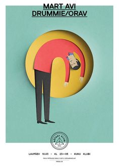 Eiko Ojala  Graphic design that looks like paper cut-outs? Check. Estonia-based illustrator and graphic designer Eiko Ojala is tricking our noggins one by one. A 'Young Illustrators Award' nominee, Ojala's clientele ranges from The New York Times to the Victora and Albert Museum and has been featured on It's Nice That, iGnant, and Etapes.