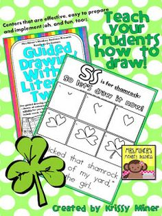 Freebielicious: Free Directed Drawing of a Shamrock in a Literacy Center