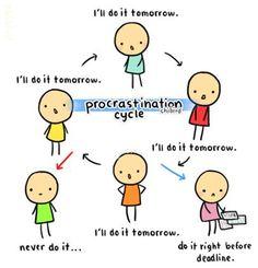 Procrastination on the job hunt...