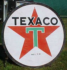 Texaco gas station sign