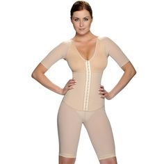 Achieve a sumptuous shape with this full bodysuit. Slim down your waist, flatten your stomach, lift up your bottom and enhance your bust all in one step. Create a slimmer, curvier and shapelier figure. Feel more confident when wearing a new outfit.