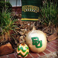 #Baylor Proud pumpkins! (via shannon_leyerle on Instagram) #SicEm